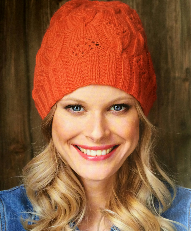 Knitting pattern for butterfly beanie hat