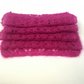 Pink  lace scarf hand knit in kid mohair