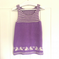 Flopsy Bunny Slip dress for babies knitting pattern