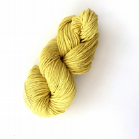 Natural Hand dyed yarn with nettles 100 grams laceweight wool