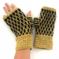 Mustard wool fingerless gloves