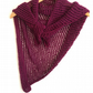 Asymmetrical plum lace cotton shawl