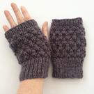 Purple Wool Fingerless gloves