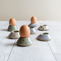 Egg cups - Set of Two - Hand thrown Stoneware - Made to Order