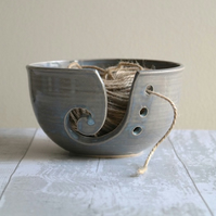 'Soft Grey' Glazed Yarn Bowl - Stoneware - Made to Order