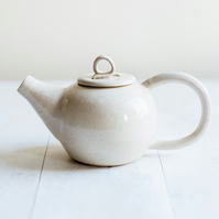 Ivory Speckle Stoneware Teapot - Made to order