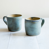 Frosty Blue Stoneware Mug - Ready to Ship