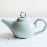 Rustic Two Cup Teapot in Duck Egg Glaze - Made to Order