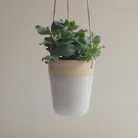 Stoneware Hanging Planter - Succulent Planter - Made to Order