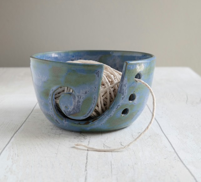 Inky Blue Yarn Bowl - Ready to Ship - Free UK Shipping