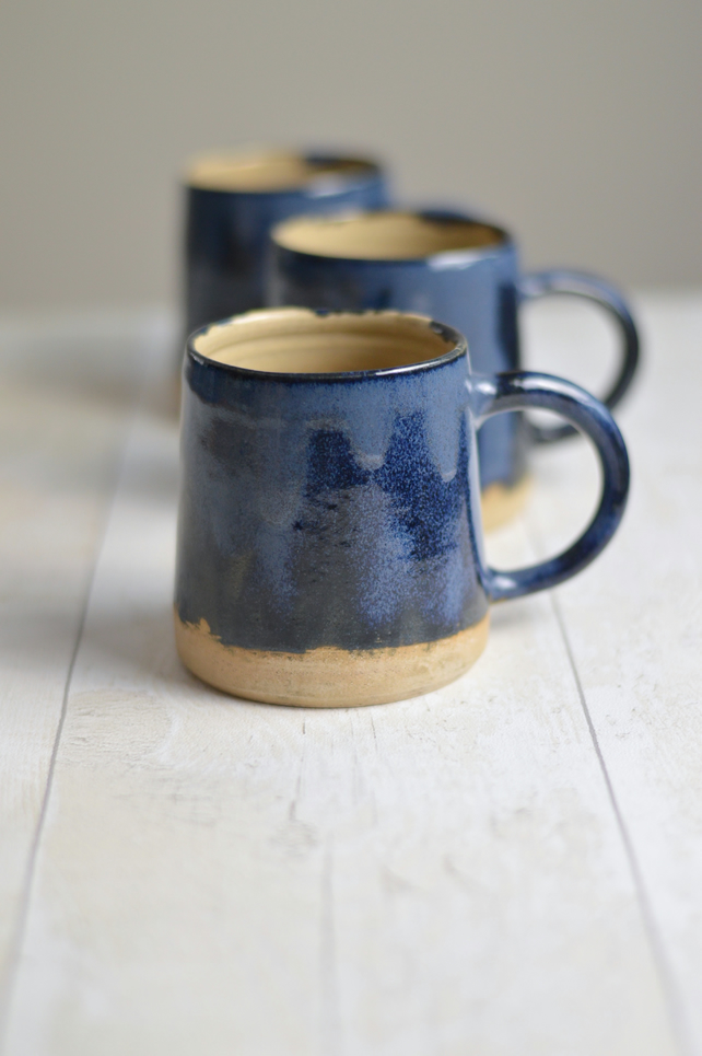 Stormy Seas Glazed Mugs - Made to Order - Free UK Shipping