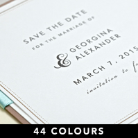 Wedding Save the Date - Layered Square - SAMPLE