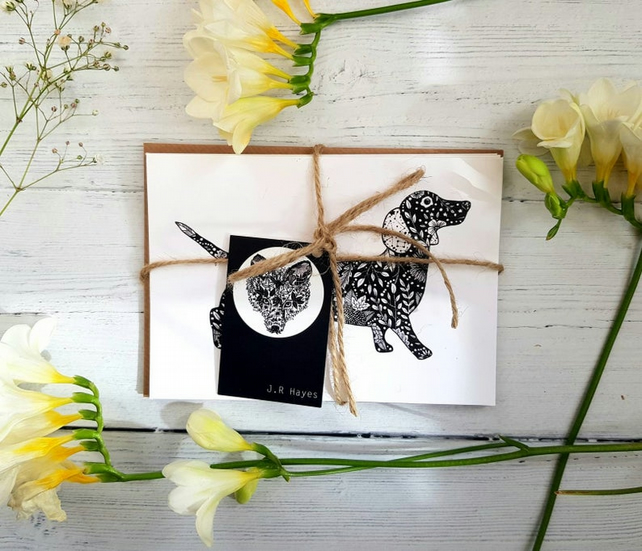 Animal Postcard Set-5 Designs