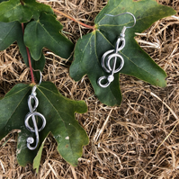 Treble Clef Music Earrings