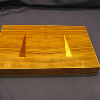 Handmade Black Walnut Wood Backgammon Set - PRICE REDUCED