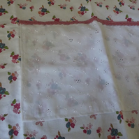 PRETTY cafe style apron pocket and nice long ties cotton