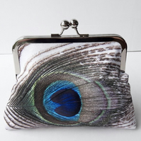 Peacock Eye Feather  Clutch Bag