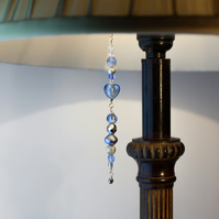 Blue, Crystal & Silver Beaded Lamp Charm