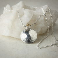 Silver Seed Head Pendant with Chain