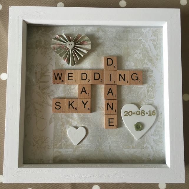 Personalised handmade Letterart wedding pictures