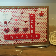 Personalised handmade Letterart engagement cards