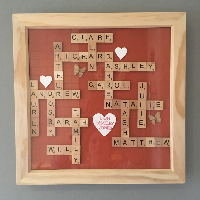 "Bespoke Letterart handmade large (12"") family pictures (over 10 words)"