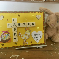 Personalised handmade Letterart Easter cards