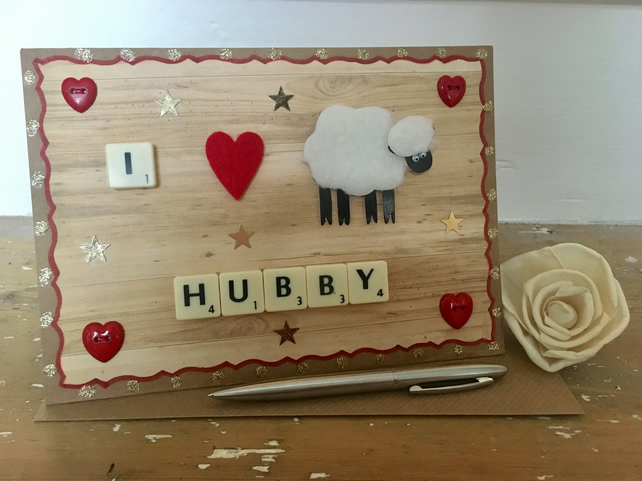 Personalised handmade Letterart Valentine's Day cards