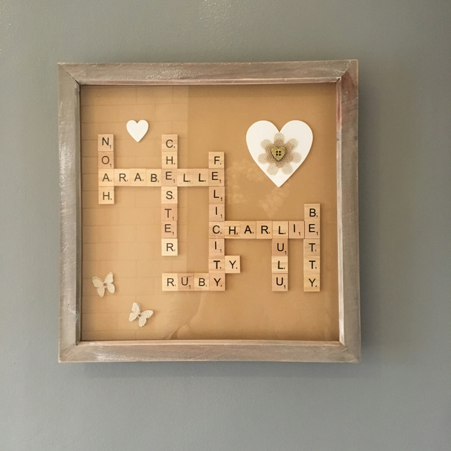"Bespoke Letterart handmade large (12"") family pictures (under 10 words)"