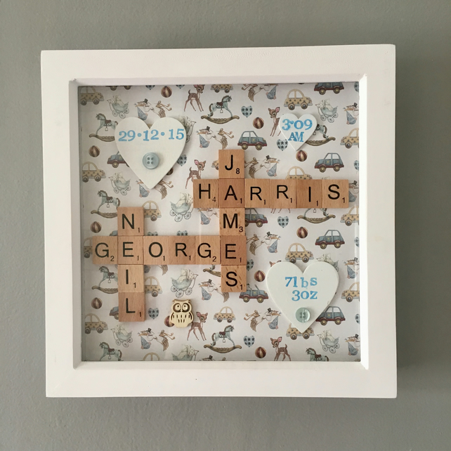 Personalised handmade Letterart baby pictures