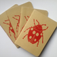 Ladybird Hand Stitched and Hand Printed Notebook