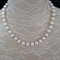 Pearl & Tanzanite necklace