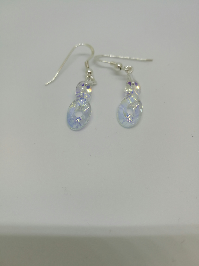 Swarovski Crystal Infinity Earrings