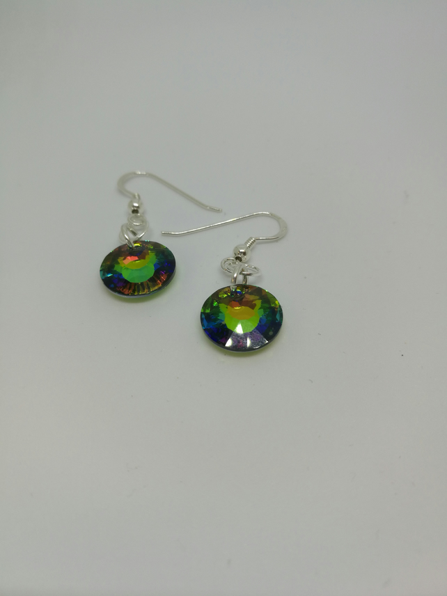 Swarovski Sun Crystal 12mm Earrings