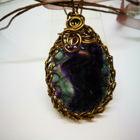 Fluorite Wire Wrapped Pendant