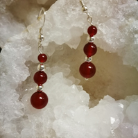 Carnelian Graduated drop earrings