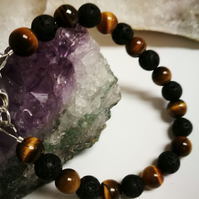 Tigers Eye & Lava Rock bracelet
