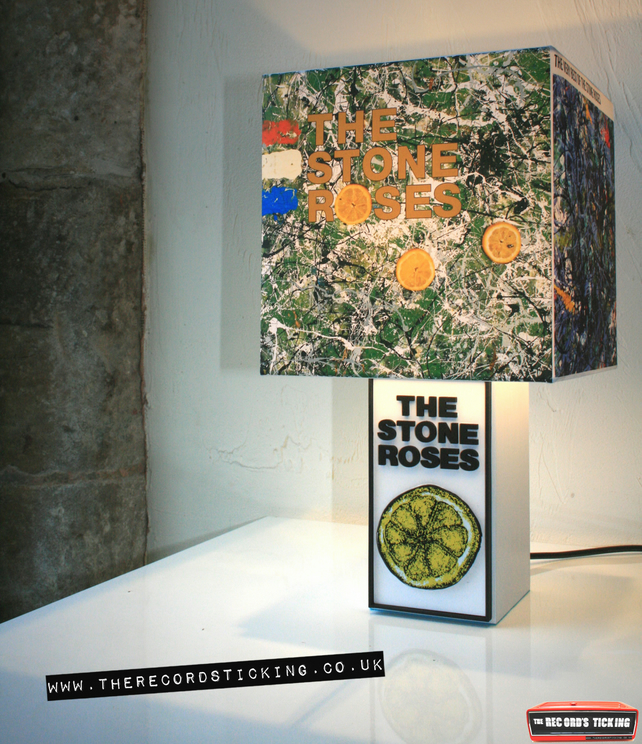 Handmade Stone Roses Lemon Lamp & Album Cover Shade