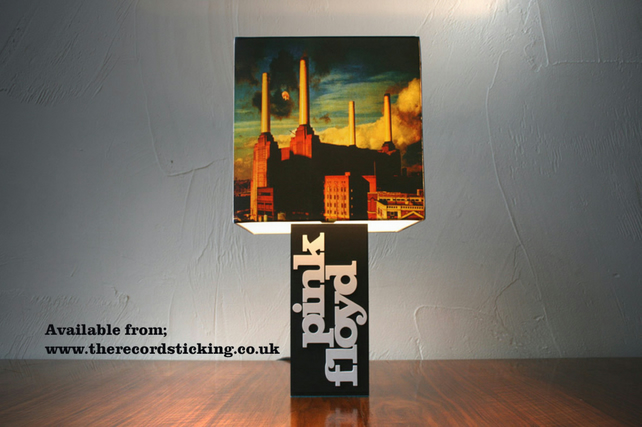 Handmade Pink Floyd Lamp & Album Cover Shade