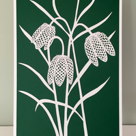 Paper art, Paper cut, Fritillaria, Floral art, Paper cutting, Unique gift