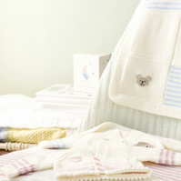 Pdf knitting pattern for premature baby or reborn cardi and blankets sets