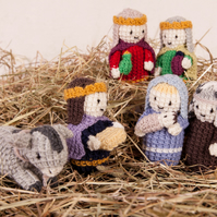 Pdf knitting pattern for Nativity toys for Christmas by Angela Turner