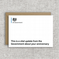 A Vital Message From The Government About Your Birthday - Lockdown Birthday card