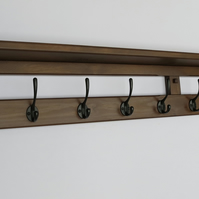 10 hook hat and coat rack with shelf