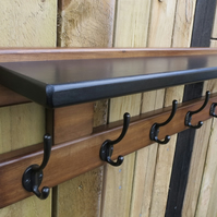 8 hook hat and coat rack