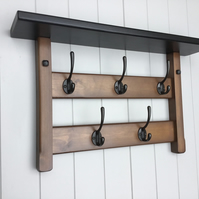 5 Hook hat and coat rack