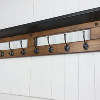 10 hook hat and coat rack