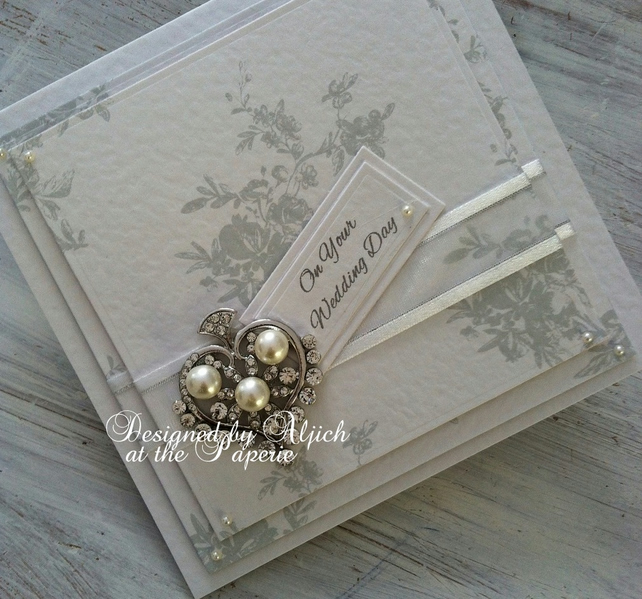 Wedding Card, Personalized, Engagement, Anniversary, Silver ,, Pearl Wedding