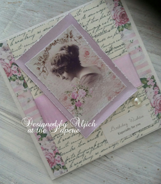 Handmade Birthday Card, Especially For You, Wife, Mum, Personalized