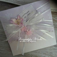 New Baby Girl Card, Handmade, Personalized, Baby Girl, Baby Shower